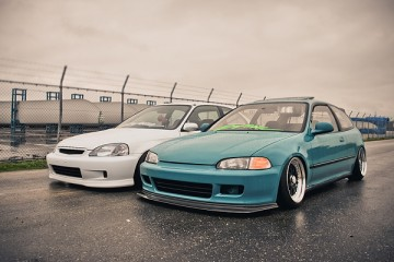 Honda Civic Stance Fitment Flush