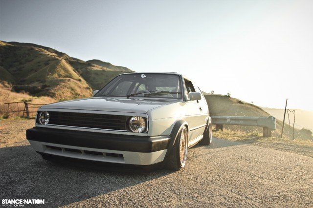 One Flawless Euro.   StanceNation™ // Form > Function Vw Golf Mk1 Gti Modified