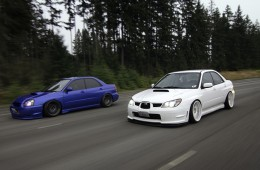 Stanced Subaru