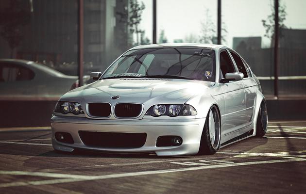 Slammed BMW Sedan
