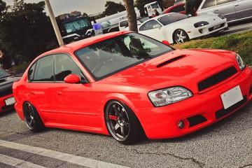 Stanced & Slammed Subaru Legacy