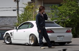 aggressively fitted Nissan s15 from japan drift car