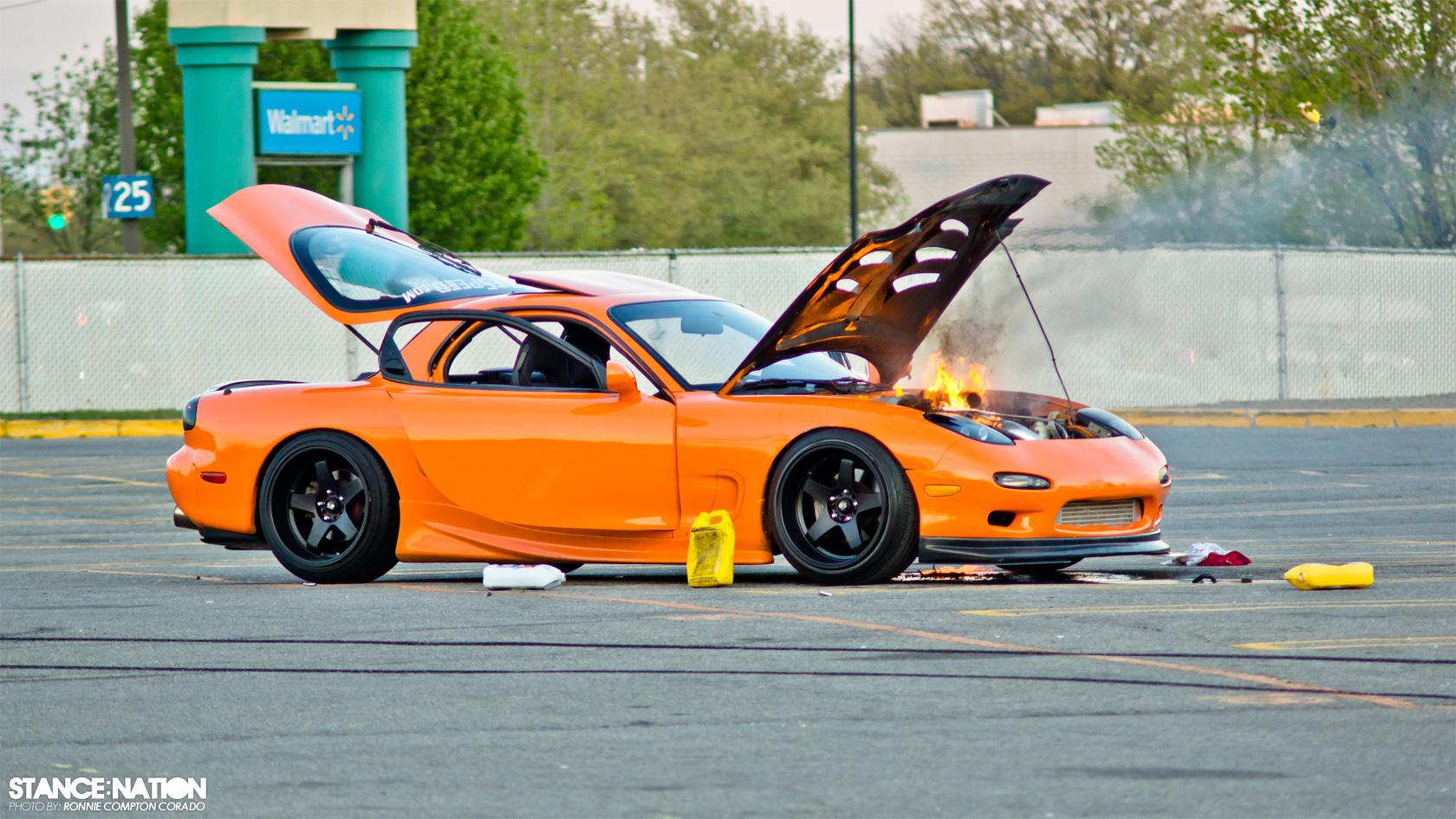 Slammed U0026 Stanced Flush Fitment Mazda RX7 ...