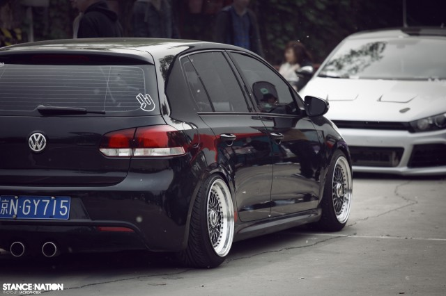 Aggressive Fitment China Stanced Car Event (4)