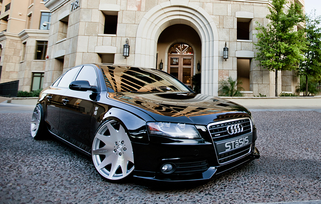 Slammed & Fitted Aggressive Stance on Flush Audi