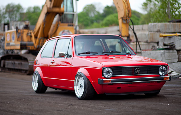 Slammed & Fitted VW Golf MK1 Euro Stance (2)