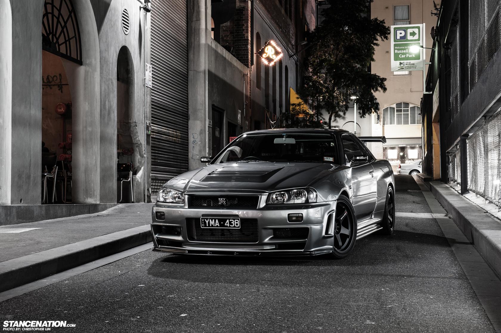 Nissan Skyline R34 Parking Hd Wallpaper Elegant Wallpapers