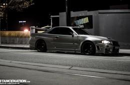 Aggressive Nissan Skyline R34 GTR (1)