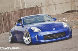 Aggressive Fitment Nissan 350Z on Work Equips (1)