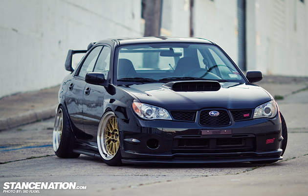 Slammed & Fitted Subaru STI (1)