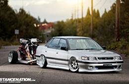 Slammed Boosted Subaru Legacy (1)