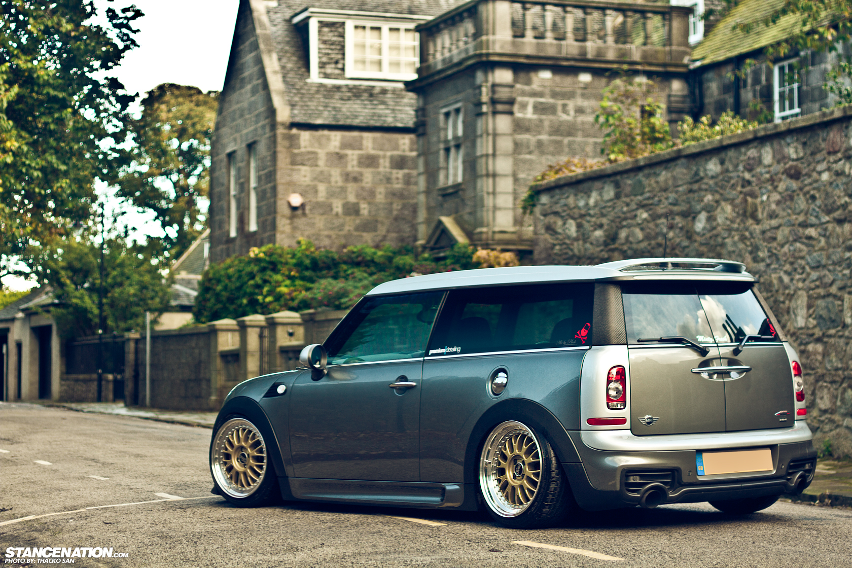 the clubby that could james 39 mini cooper clubman stancenation form function. Black Bedroom Furniture Sets. Home Design Ideas