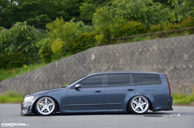 Slammed & Fitted Nissan Stagea M35 (9)