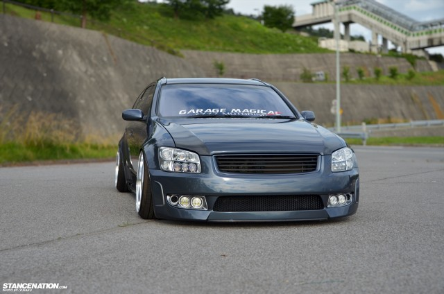 Slammed & Fitted Nissan Stagea M35 (8)