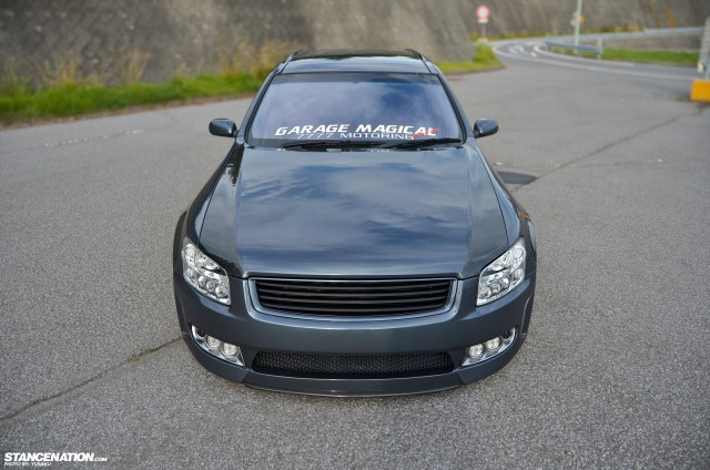 Slammed & Fitted Nissan Stagea M35 (7)