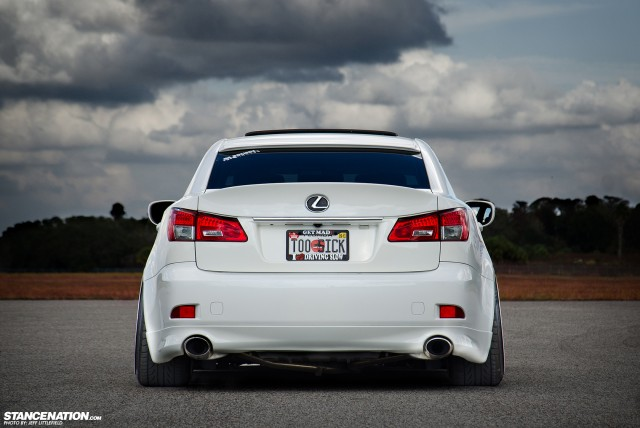 Slammed Lexus IS Aggressive Fitment (9)