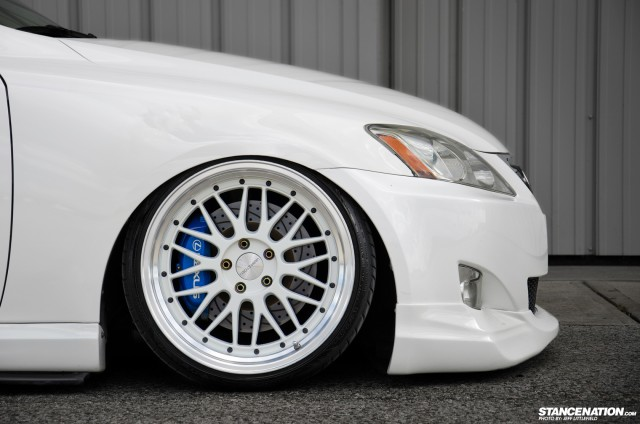 Slammed Lexus IS Aggressive Fitment (3)