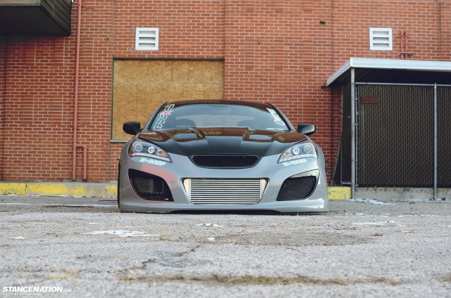 Flush Stanced Hyundai Genesis Coupe (14)