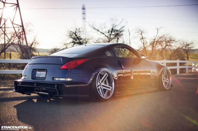 Slammed & Stanced Nissan 350Z on Luxury Abstract Wheels (15)