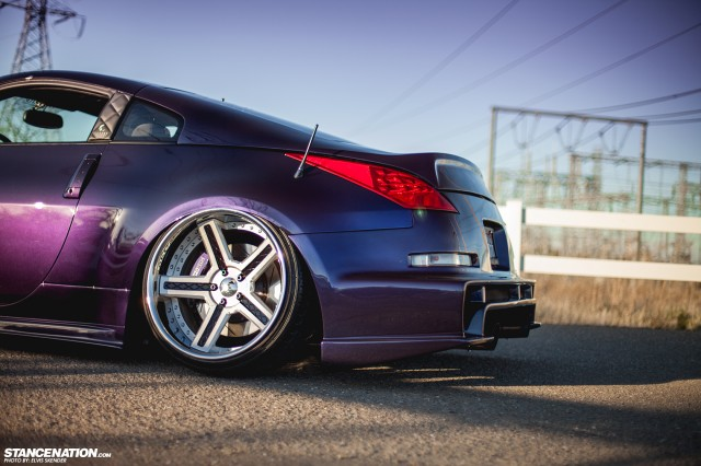 Slammed & Stanced Nissan 350Z on Luxury Abstract Wheels (14)