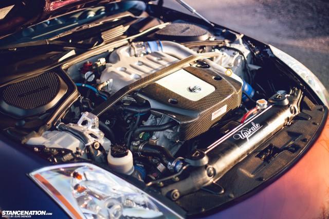 Slammed & Stanced Nissan 350Z on Luxury Abstract Wheels (12)