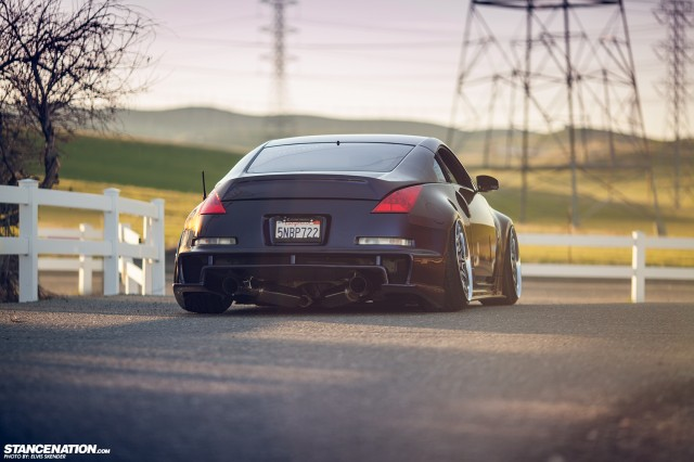 Slammed & Stanced Nissan 350Z on Luxury Abstract Wheels (7)