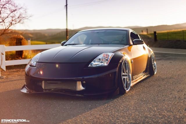 Slammed & Stanced Nissan 350Z on Luxury Abstract Wheels (5)
