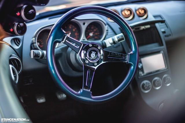 Slammed & Stanced Nissan 350Z on Luxury Abstract Wheels (3)