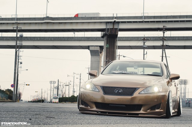 Slammed &amp; Fitted Lexus IS from Japan (5)
