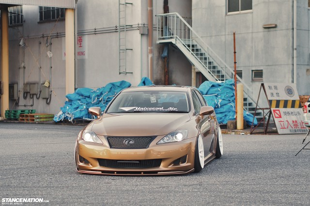 Slammed &amp; Fitted Lexus IS from Japan (1)