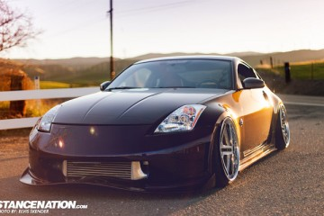 Slammed & Stanced Nissan 350Z on Luxury Abstract Wheels (1)