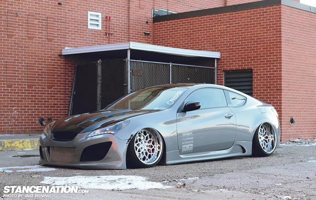 Flush Stanced Hyundai Genesis Coupe (2)