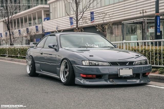 Slammed Japanese Nissan Silvia S14 (15)