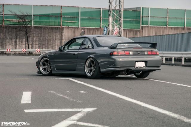 Slammed Japanese Nissan Silvia S14 (3)