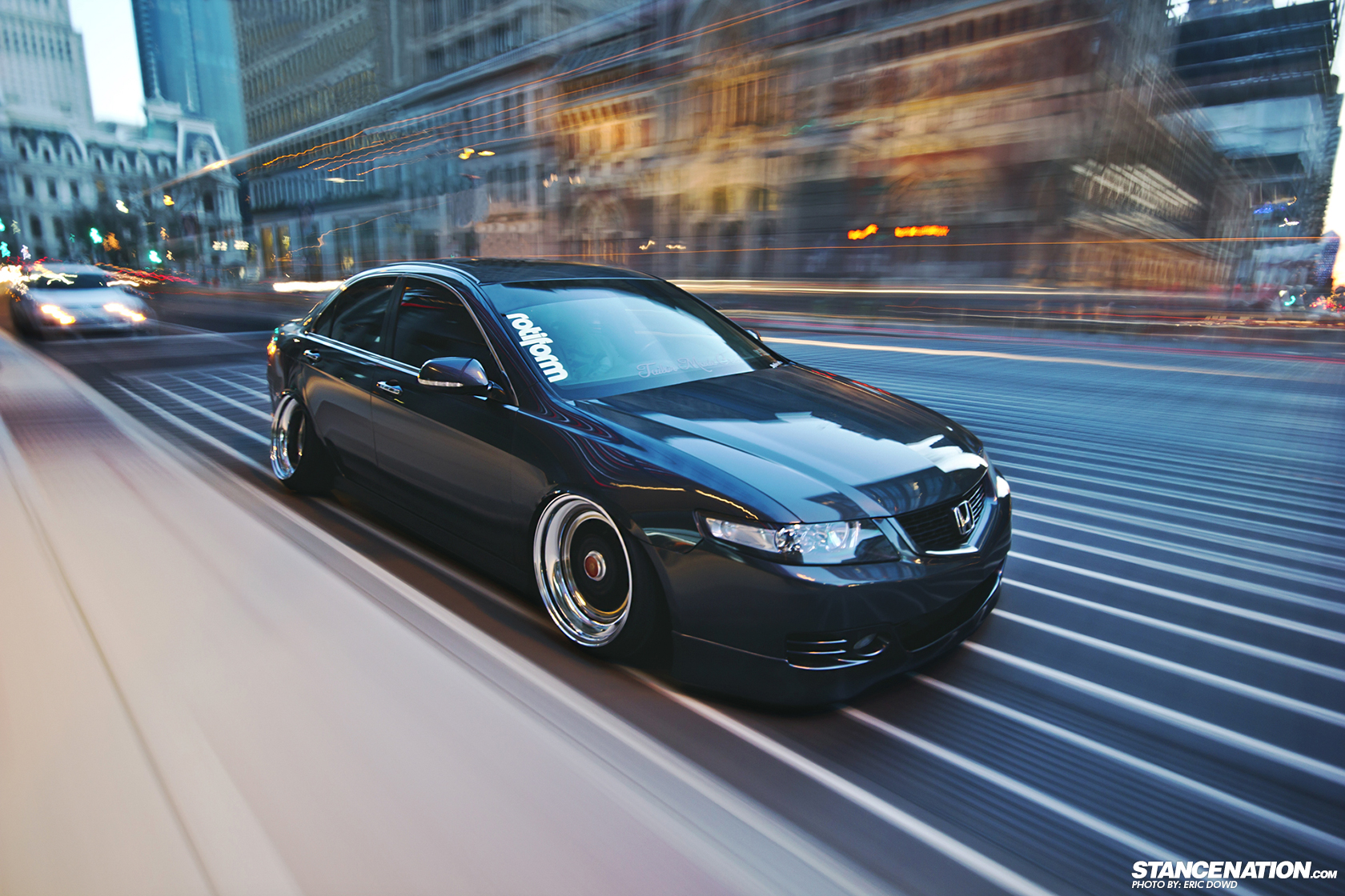 Dumped Cambered Matthews Acura TSX StanceNation Form - Acura tsx rims 18