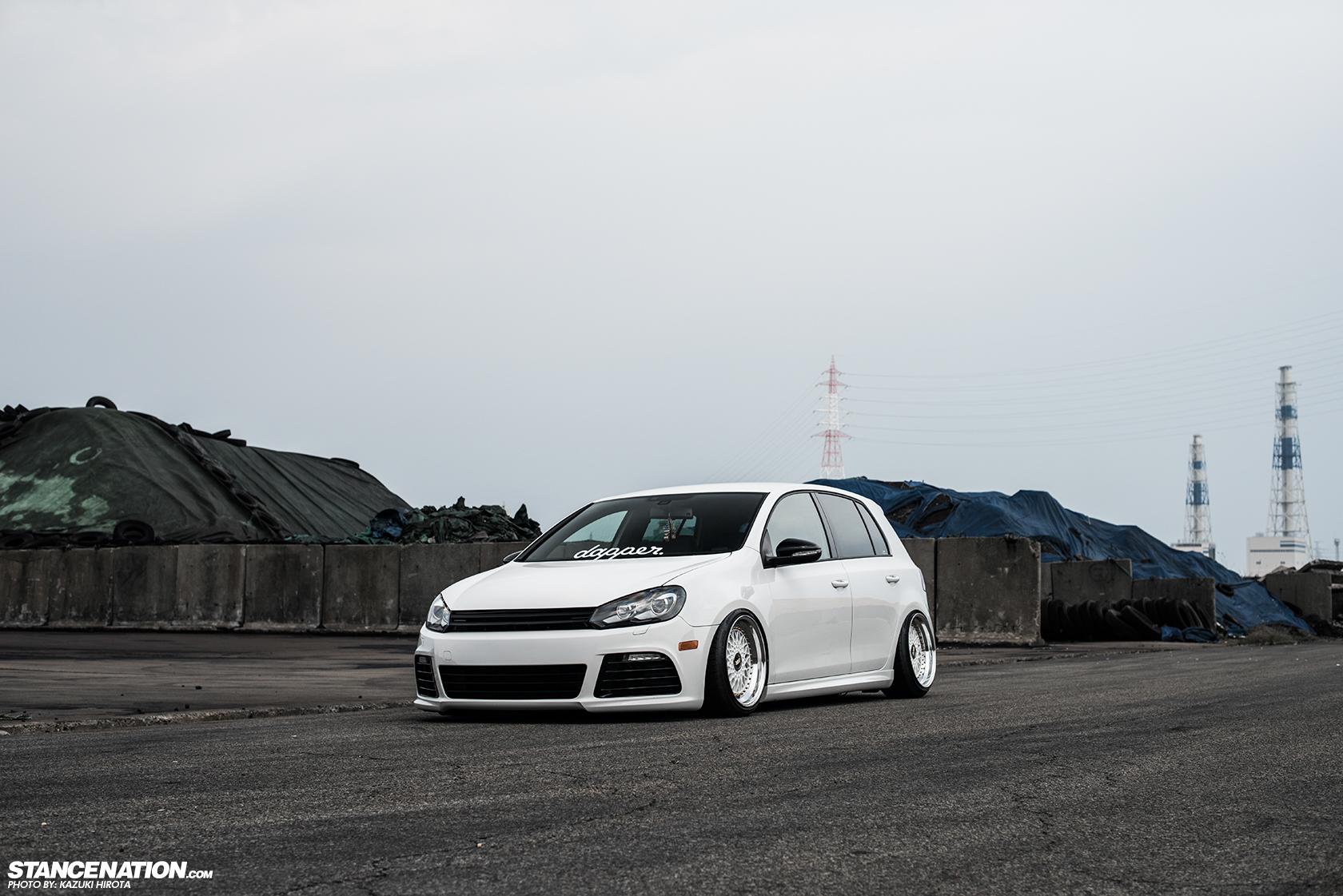 Vw golf r mk6 cars one love - Stanced Vw Golf Gti Japan 4