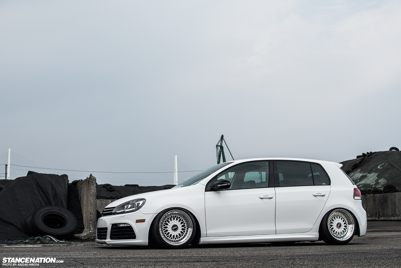 Sexy In White Yasunobu S Usdm Style Vw Golf Stancenation