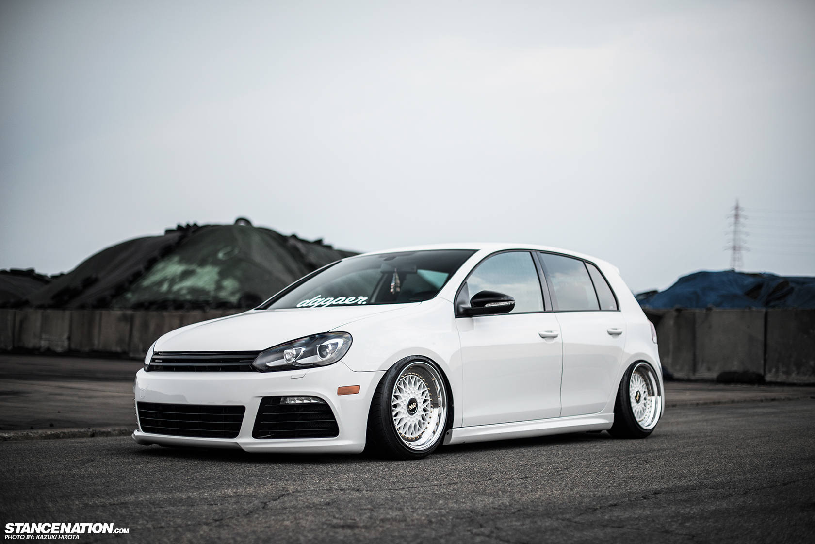 Sexy In White Yasunobu S Usdm Style Vw Golf