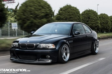 Slammed BMW E46 M3 on Rotiform Wheels Japan (1)