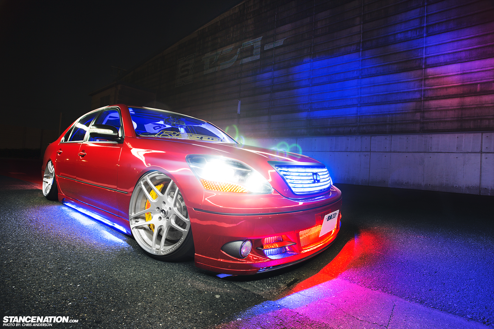 Lights Camera Action Junpeis ShowStopping Celsior - Car light show