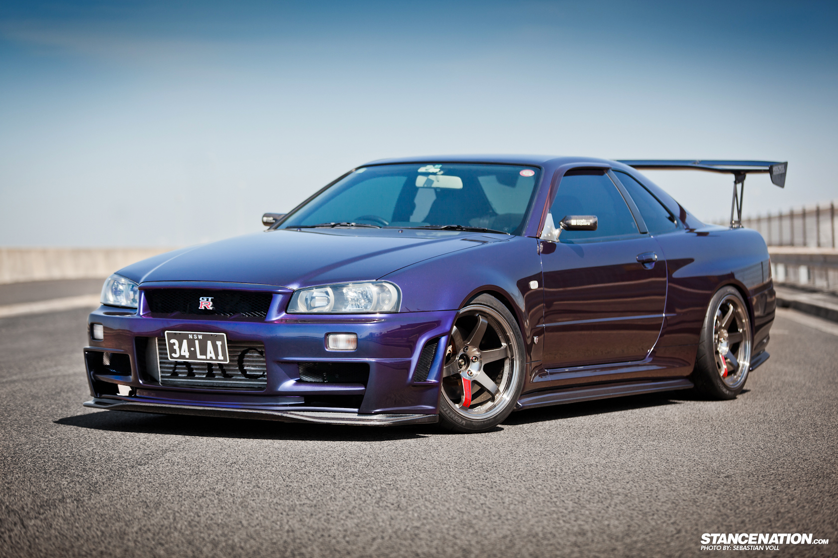barely legal david 39 s nissan skyline r34 gtr stancenation form function. Black Bedroom Furniture Sets. Home Design Ideas