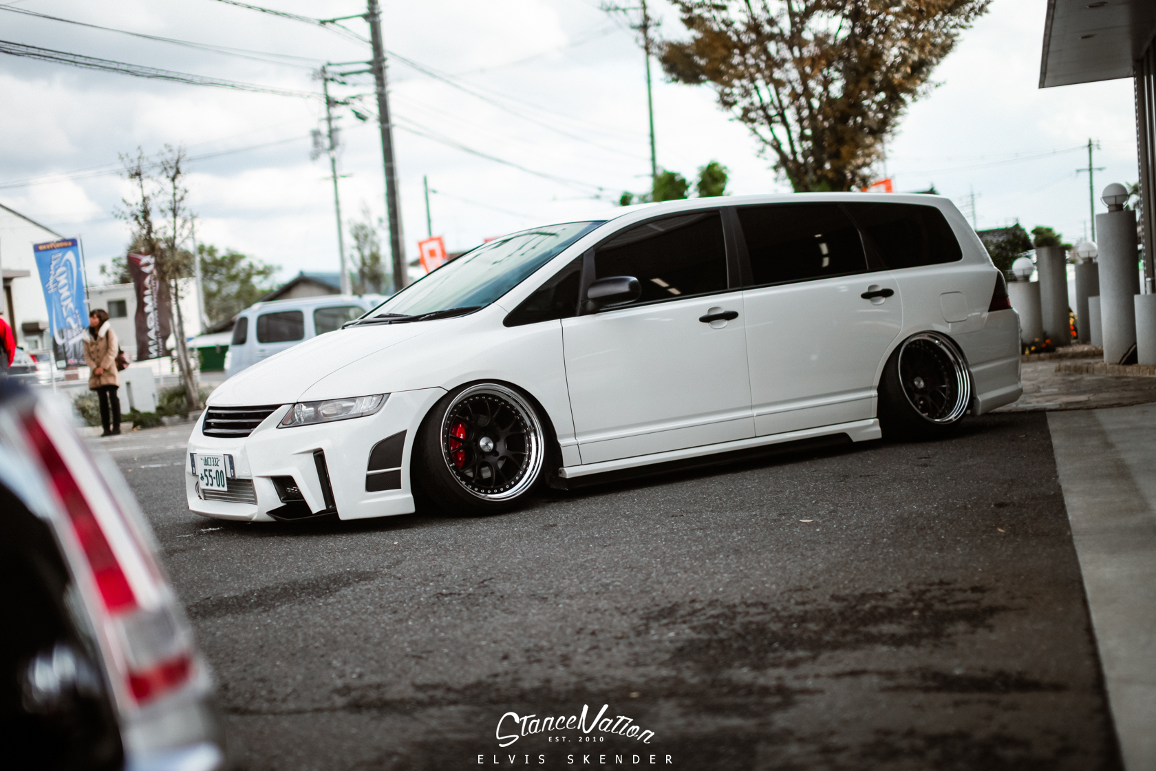 A Closer Look At Aimgain Japan The Odyssey Stancenation Honda Slammed Vip Style Van 9