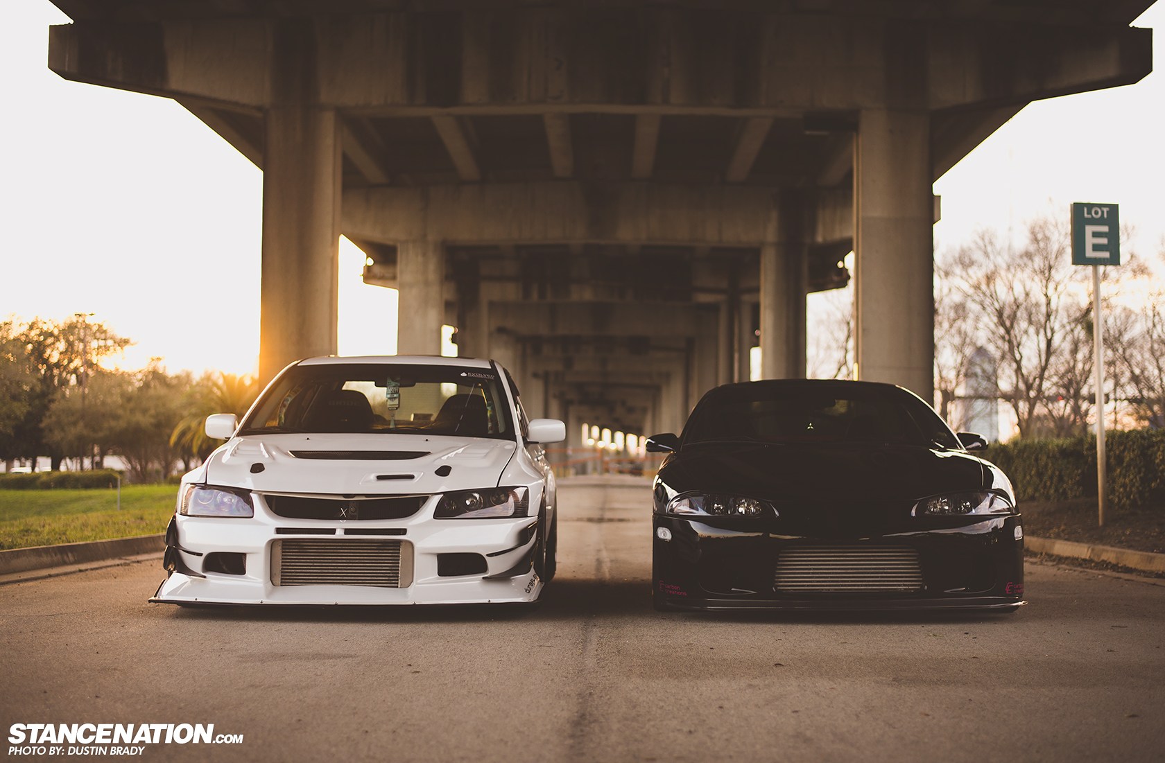 His & Hers // Justin & Jax's Mean EVO & Eclipse. | StanceNation™ // Form > Function