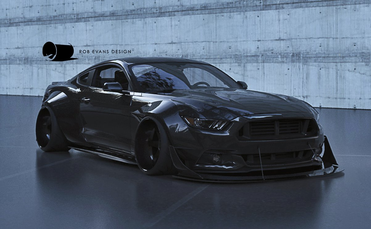 2015 Widebody Ford Mustang Concept Stancenation
