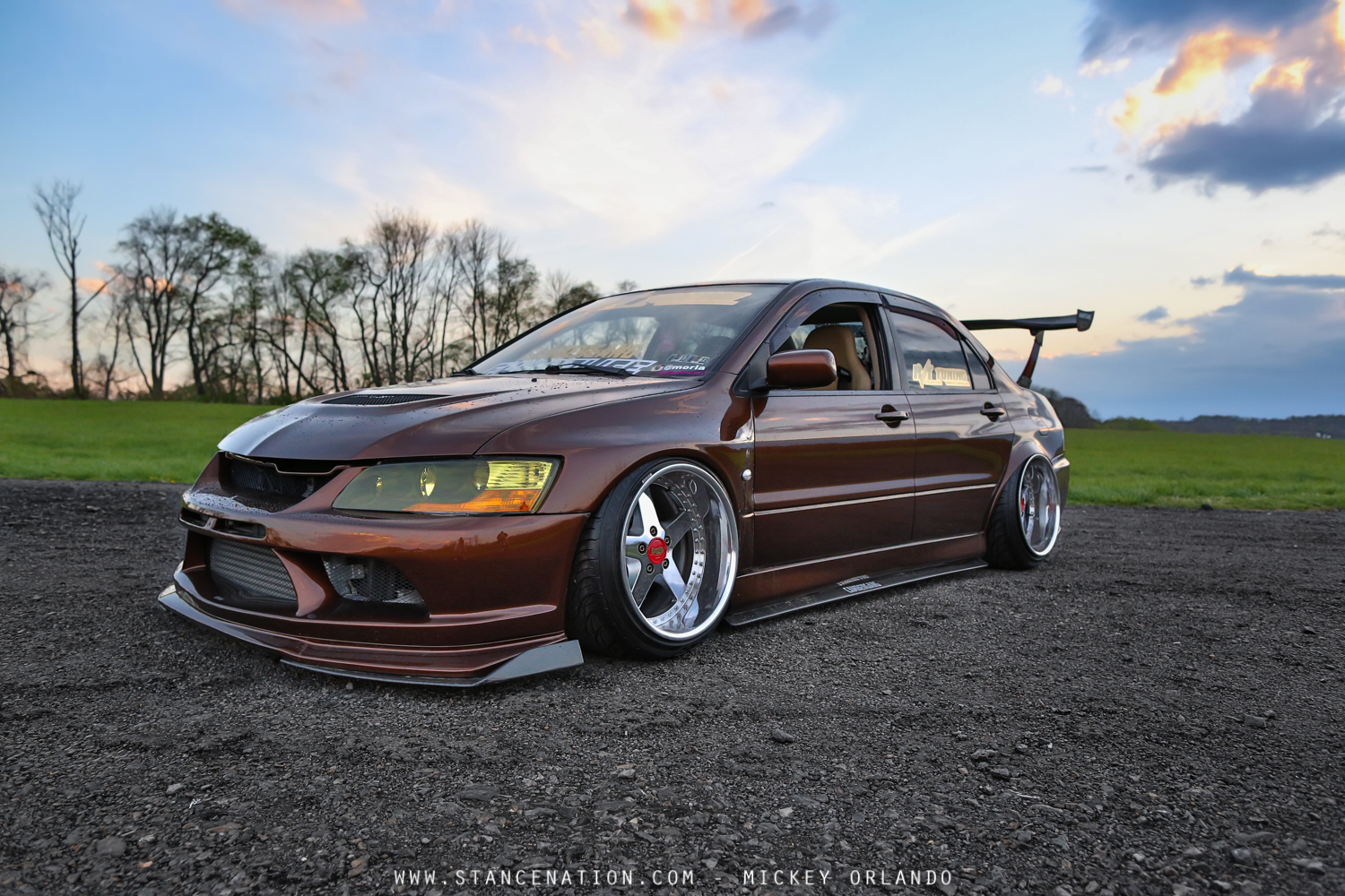 complete package mickey 39 s 500 hp mitsubishi evo stancenation form function. Black Bedroom Furniture Sets. Home Design Ideas