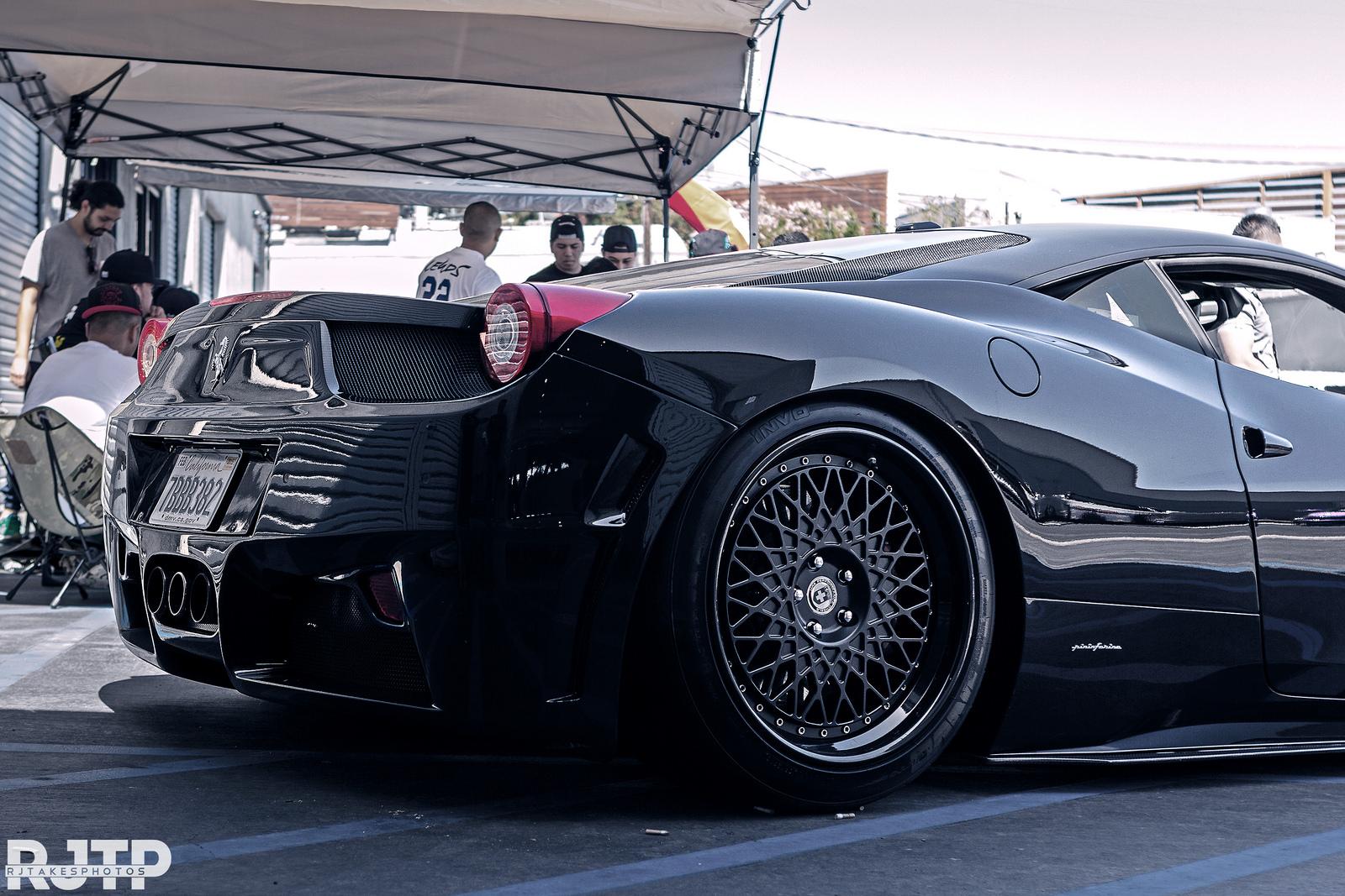Black On Black Ferrari 458 StanceNation Form Gt Function