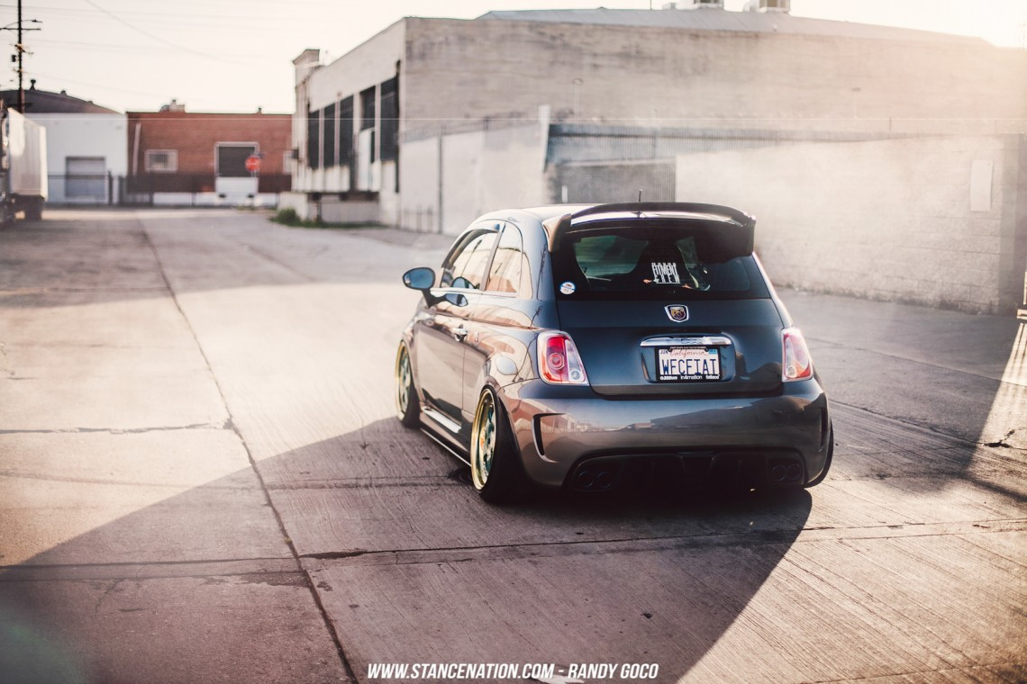 Stanced Fiat 500 Abarth-1