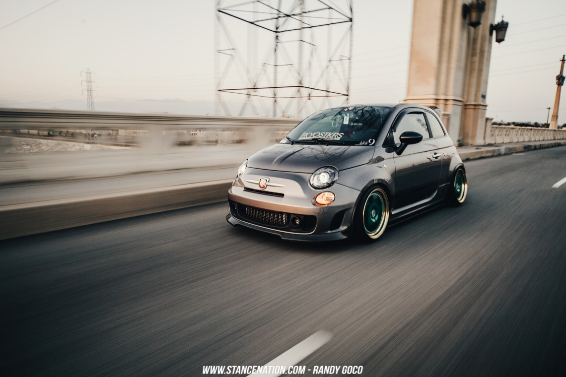 Stanced Fiat 500 Abarth-14