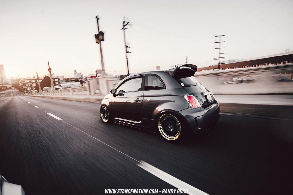 Stanced Fiat 500 Abarth-15