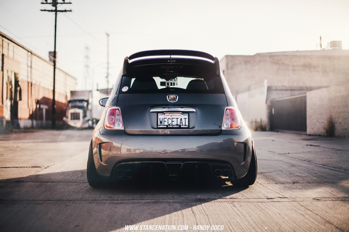 Stanced Fiat 500 Abarth-2